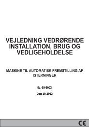 vejledning vedrørende installation, brug og vedligeholdelse