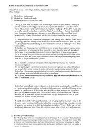 Bestyrelses referat den 28 september 2009