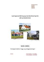 Læringsoverføring og standardisering for økt produktivitet