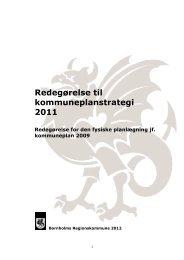 Redegørelse til kommuneplanstrategi 2011 endelig version 1