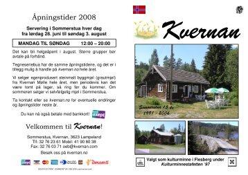 Brosjyre - Norsk - kvernan.com