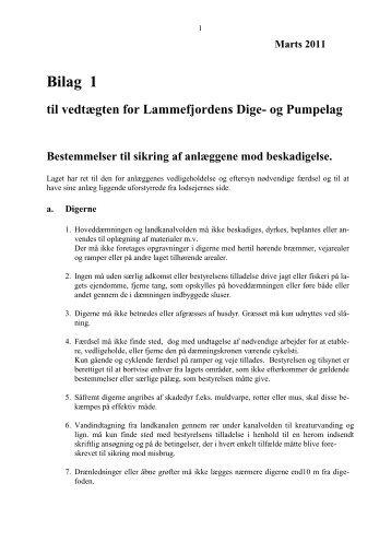 Bilag 1 til Vedtægt for Lammefjordens Dige - Audebo Pumpestation
