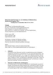 Møde med lederforeninger mv. om drøftelse af ... - Kulturstyrelsen