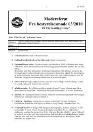 Referat fra bestyrelsesmøde 3 - Thy Motor Sport Karting