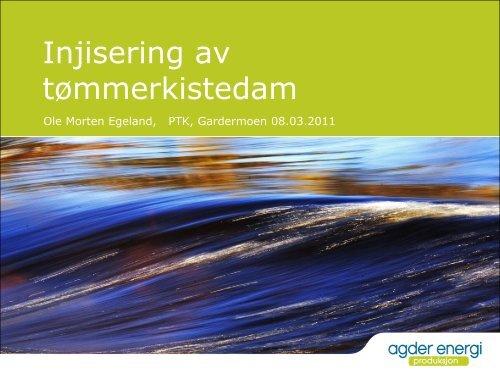 Injisering av tømmerkistedam - Energi Norge