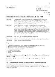 Referat af 2. repræsentantskabsmøde d. 5. maj 1999 - Naturrådet