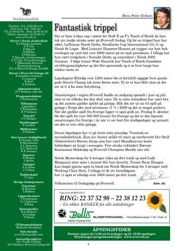 Program 23 okt komplett_oppslag.pdf - Øvrevoll Galoppbane