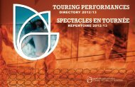 touring performances - Manitoba Arts Council