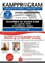 Kampprogram nr.2 - Dronninglund IF