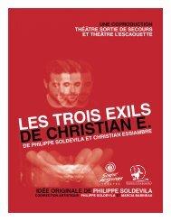 Dossier de presse – 3 exils - Théâtre Sortie de secours