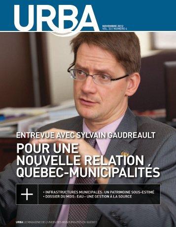 Novembre 2012 - Union des municipalités du Québec