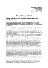 Pressemitteilung vom 30.8.09 Demonstration gegen Abschiebehaft ...