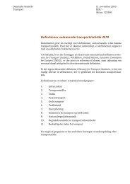 Definitioner vedrørende transportstatistik 2010 - Danmarks Statistik