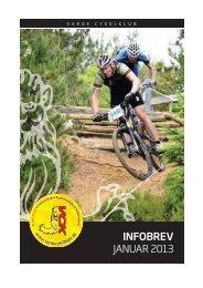 Infobrev fra Varde Cykelklub Januar 2013, som PDF her