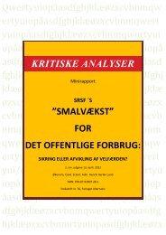 Smalvækst: Sikring eller afvikling af velfærden - Henrik Herløv Lund
