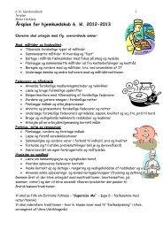 Årsplan for hjemkundskab - Uhre Friskole