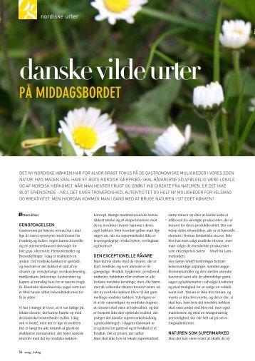Artikel fra Smag & Behag, juni 2011, Danske vilde urter ... - AgroTech