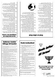 Guds trofasthed Jøderne vender tilbage til landet ... - Ordet & Israel