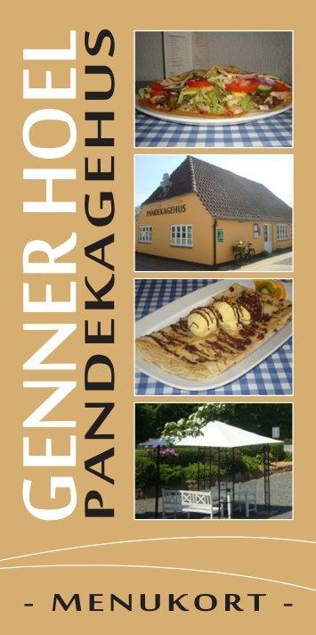 Klik for at se vores menukort - Genner Hoel
