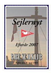 Sejlernyt efterår 2007 - Ribe Sejlklub