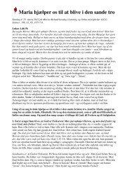 Maria hjælper os til at blive i den sande tro - Den Evangelisk ...