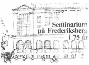 Seminarium på Frederiksberg i 75 år
