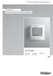 Bruk remote control geoTHERM VWL - Vaillant