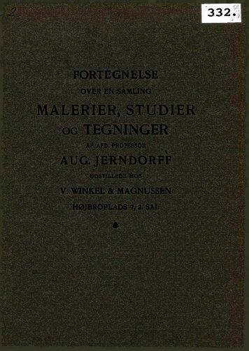 MALERIER, STUDIER OG TEGNINGER