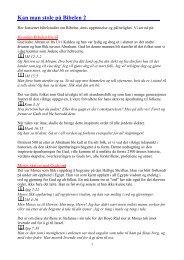 Kan man stole på Bibelen 2 - Sannheten og Livet