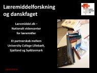 Læremiddelforskning og danskfaget - Læremiddel.dk