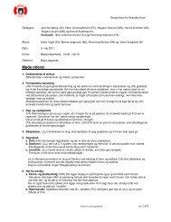 Bestyrelsesmøde 9 - 5 - 2011 - Brøndby Havn
