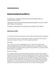 PRESSEMEDDELELSE - Dansk Kvindesamfund