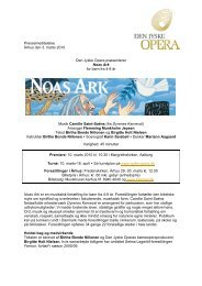 Pressemeddelelse Århus den 3. marts 2010 Den Jyske Opera ...
