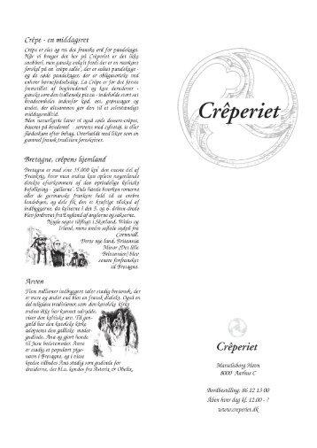 Printvenlig pdf fil af menukortet - Crêperiet