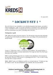 lockout nyhedsbrev nr. 1 - Hvidovre Lærerforening