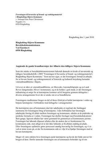 Brev til beredskabskommissionen fra Foreningen til.pdf - Ringkøbing ...