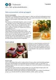 (pdf) - Fakta om marmelade, syltetøj og frugtgelé - DI Fødevarer