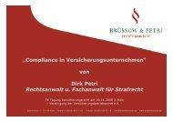 Compliance in Versicherungsunternehmen - Strafverteidiger Rainer ...