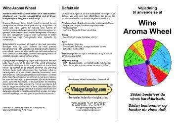 Wine Aroma Wheel - VintageKeeping.com