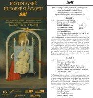 BRATISLAVSKÉ HUDOBNÉ SLÁVNOSTI - Slovenská filharmónia