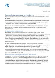 Hent HL's notat her (pdf) - Handelsskolernes Lærerforening