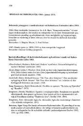 SPECIALE OG PRISOPGAVER 1964 - januar 1975 - dansk ...