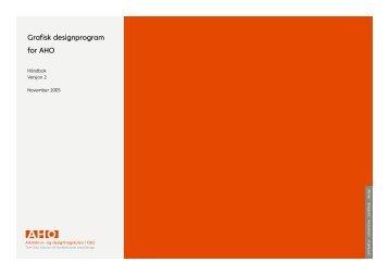 Grafisk designprogram for AHO - Arkitektur- og designhøgskolen i Oslo