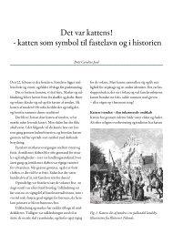 katten som symbol til fastelavn og i historien - Folkemuseet