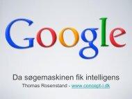 Hold hovedet koldt i SEO v/Thomas Rosenstand - it-forum midtjylland