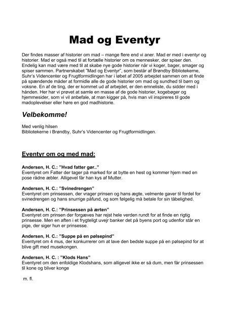 Mad og Eventyr - Brøndby Bibliotekerne