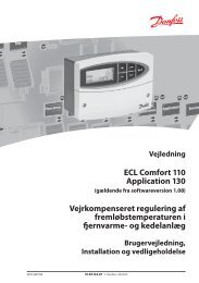 ECL Comfort 110 Application 130 ... - Danfoss Varme