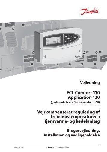 ECL Comfort 110 Application 130 ... - Danfoss Varme