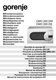 Mikrobølgeovn – Gorenje CMO200DW / DS :: Sprog
