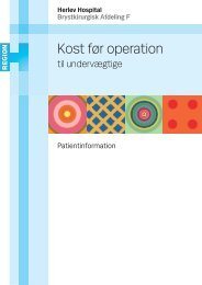 Kost før operation - Herlev Hospital